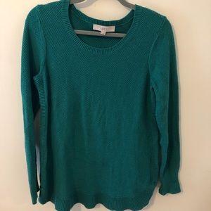 Teal LOFT Tunic Sweater